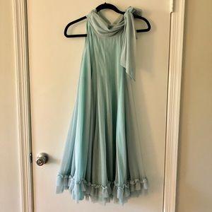 NWT Sara Campbell Blue tie neck swing dress